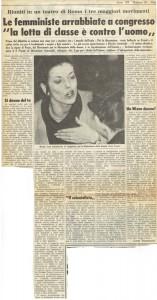 articolo stampa rivolta femminile lonzi accardi herstory  femminismo luoghi donne storia gruppi Roma
