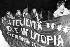 manifestazione collettivo trionfale femminismo herstory  luoghi donne storia gruppi Roma