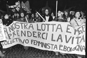 manifestazione riprendiamoci la notte collettivo femminista piazza bologna herstory  luoghi donne storia gruppi Roma