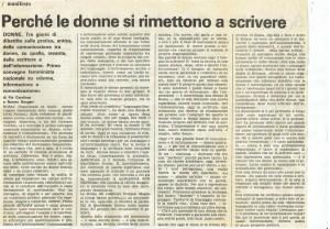 Collettivo donna immagine governo vecchio herstory  storia gruppi femminismo Roma