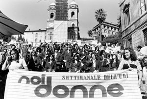 festa noidonne herstory archivia femminismo luoghi  storia gruppi Roma donna