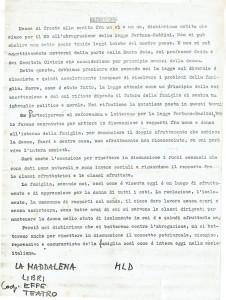 Volantino referendum sul divorzio. Movimento di Liberazione della donna Centro la Maddalena herstory archivia