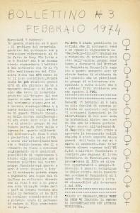bollettino  Pompeo Magno herstory  luoghi donne gruppi lesbiche femminismo Roma archivia