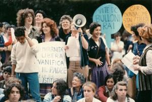 manifestazione 194 movimento romano pompeo magno femminismo herstory  luoghi donne gruppi lesbiche Roma archivia