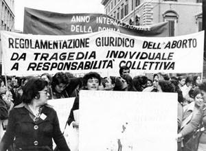 manifestazione Unione donne italiane herstory  femminismo storia gruppi Roma archivia