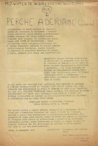 documento diritto famiglia Movimento Liberazione della Donna archivia herstory  femminismo Roma