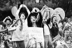 manifestazione 194 movimento romano femminismo herstory  luoghi donne gruppi lesbiche Roma archivia