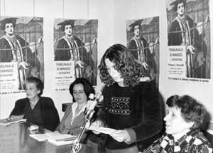 Tribunale 8 marzo herstory  femministe  luoghi donne storia collettivi manifestazioni gruppi Roma