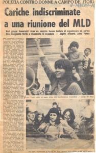 manifestazione 8 marzo  Movimento Liberazione della Donna archivia herstory  femminismo Roma