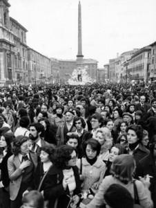 manifestazione 8 marzo Unione donne italiane herstory  femminismo storia gruppi Roma archivia