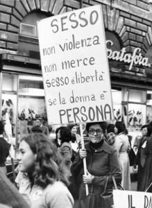 manifestazione consultori collettivo quartiere africano femminismo herstory  luoghi donne storia gruppi Roma