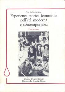 Circolo Udi La goccia atti seminario herstory  femminismo luoghi donne storia collettivi manifestazioni gruppi Roma