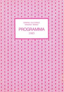programma Centro Virginia Woolf Università delle donne herstory  femminismo luoghi storia gruppi Roma