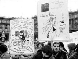 manifestazione occupazione Unione donne italiane herstory  femminismo storia gruppi Roma archivia