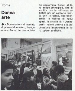 Associazione donna arte mostra noidonne herstory  femminismo luoghi storia gruppi Roma