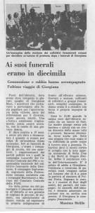 funerali giorgiana masi casa  donna occupazione governo vecchio herstory  storia femminismo gruppi Roma