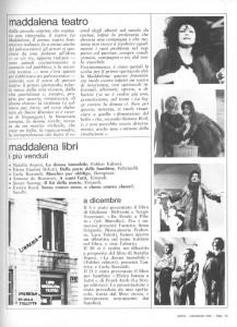 teatro la Maddalena libri herstory  archivia femminismo luoghi donne storia gruppi Roma