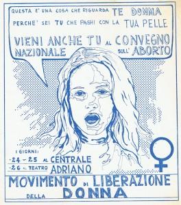 convegno MLD Movimento Liberazione della Donna archivia herstory  femminismo Roma