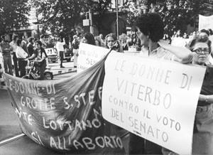 Collettivo femminista Comunista Viterbo manifestazione aborto herstory  luoghi donne storia gruppi Roma