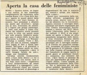 Centro donne inaugurazione repubblica herstory  femminismo storia collettivi manifestazioni gruppi mappa