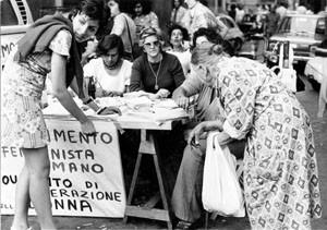 raccolta firme aborto mld pompeo magno femminismo herstory  luoghi donne gruppi lesbiche Roma archivia