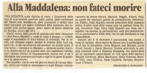 appello il tempo teatro Maddalena herstory  femminismo luoghi donne storia gruppi Roma