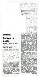 Centro Culturale Virginia Woolf Università delle donne herstory  femminismo luoghi storia gruppi Roma espresso