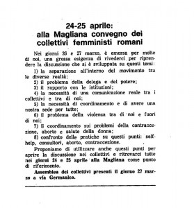 Collettivi Via Germanico incontro herstory  femminismo luoghi donne storia gruppi Roma