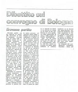 collettivo femminista appio tuscolano convegno bologna herstory  luoghi donne storia gruppi Roma