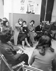 incontro noidonne herstory archivia femminismo luoghi  storia gruppi Roma donna