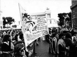 manifestazione Comitato romano liberalizzazione aborto contraccezione herstory  femminismo donne gruppi Roma