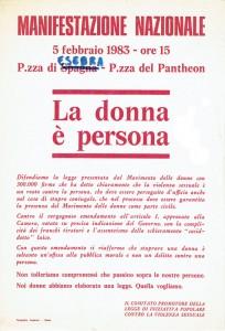 violenza volantino legge herstory  femminismo luoghi donne storia gruppi Roma