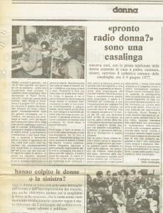 Radio donna QUOTIDIANO TRASMISSIONE herstory  femminismo storia collettivi manifestazioni gruppi