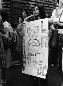 manifestazione contro voto nero  Unione donne italiane herstory  femminismo storia gruppi Roma archivia
