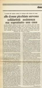 articolo casa donna governo vecchio herstory  storia femminismo gruppi Roma