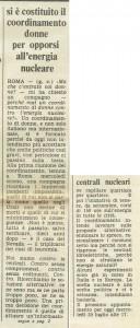 coordinamento contro nucleare casa donna governo vecchio herstory  storia gruppi Roma