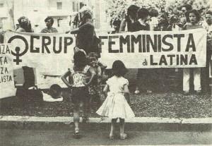 Movimento femminista di Latina processo circeo quotidiano donna herstory  femminismo luoghi donne storia gruppi Roma