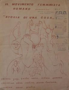 pompeo magno femminismo herstory  luoghi donne gruppi lesbiche Roma archivia