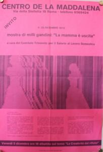 volantino Associazione la Maddalena herstory  femminismo luoghi donne storia gruppi Roma 1.26