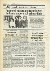 collettivo donna lavoro governo vecchio herstory  storia gruppi Roma