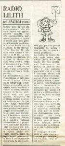collettivo radio lilith  governo vecchio herstory  storia gruppi Roma