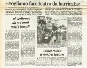collettivo teatro la Maddalena herstory  femminismo luoghi donne storia gruppi Roma