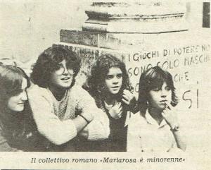 Collettivo studentesse mariarosa è minorenne casa donne herstory  storia gruppi Roma