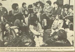 comitato promotore legge iniziativa popolare herstory  femminismo luoghi donne storia gruppi Roma