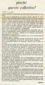 collettivo donne carcere governo vecchio herstory  storia gruppi Roma
