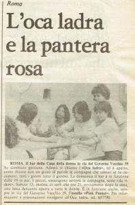 ristoro ostello lisistrata casa donna  governo vecchio herstory  storia gruppi Roma