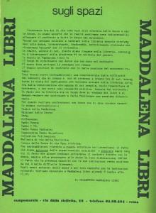 incontro differenze Maddalena libri herstory  femminismo luoghi donne storia gruppi Roma