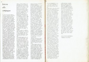 Collettivo donne e cultura differenze lettera riunione herstory  femminismo luoghi donne storia gruppi Roma