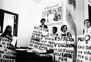 manifestazione digiuno aborto  Movimento Liberazione della Donna archivia herstory  femminismo Roma