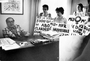 manifestazione aborto espresso pompeo magno femminismo herstory  luoghi donne gruppi lesbiche Roma archivia